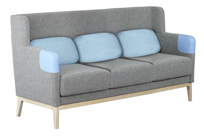 Isla-sohvan runko on koivuvaneria, jalusta lakattua koivua